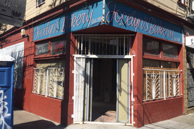 The storefront that housed Jocelyn's Bakery for some two decades will soon reopen an ice cream shop. Photo by Lola Chavez
