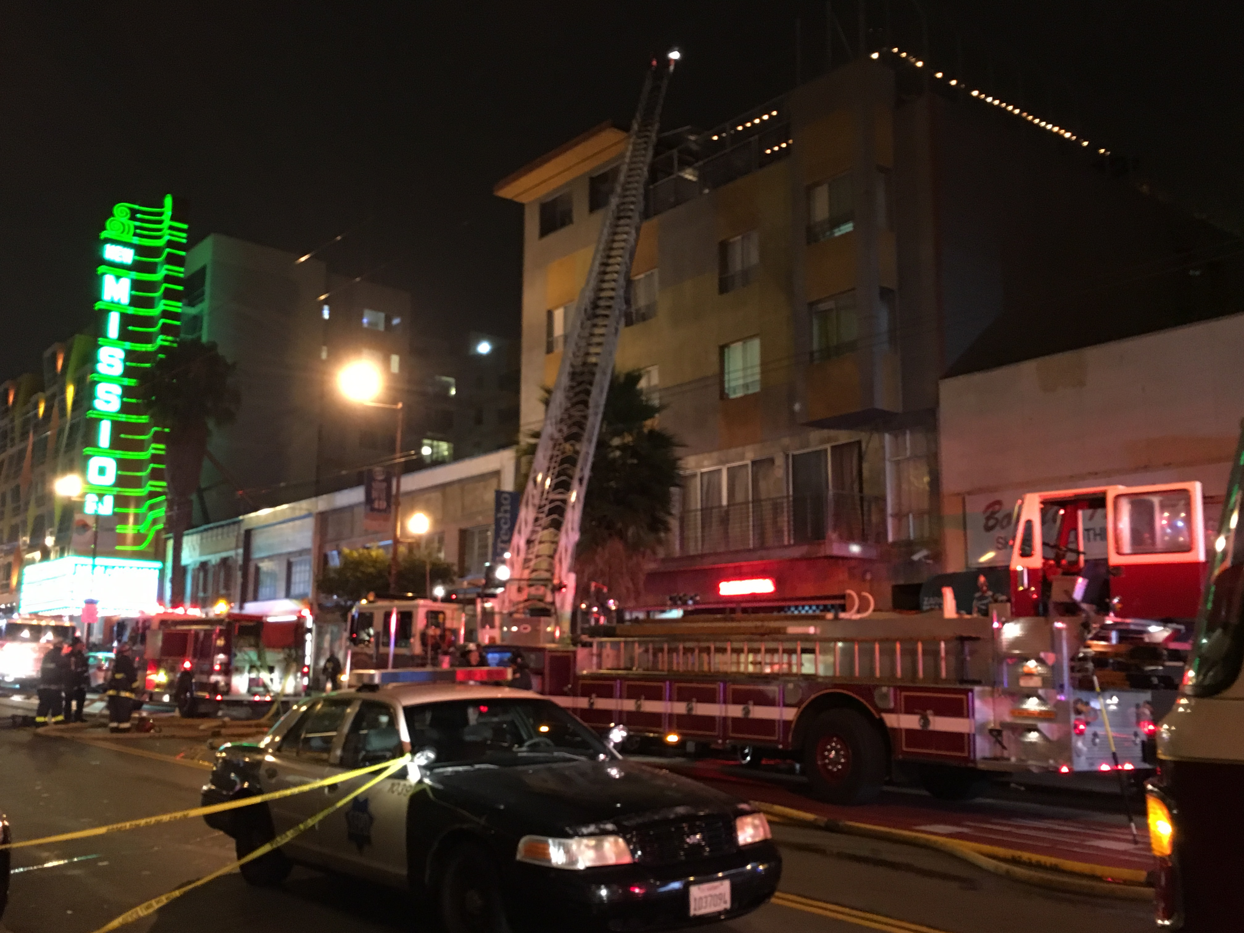 Small Fire at Lolinda Restaurant in Mission District