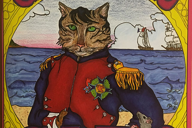 Mission Designer Pens Cat-Themed History Coloring Book