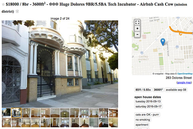 """Airbnb Cash Cow"" for Rent on Dolores Street"
