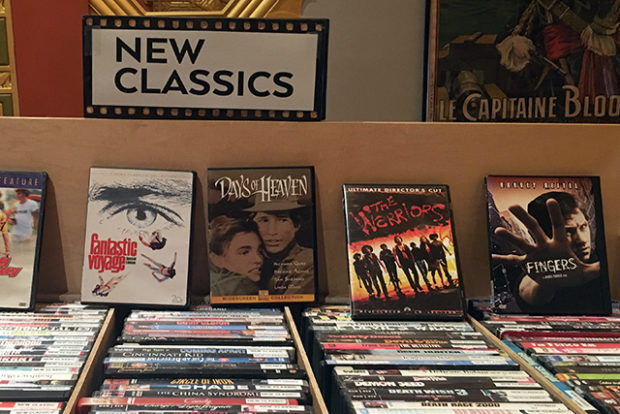 Lost Weekend Video now operates as a kiosk inside the Alamo Drafthouse's renovated New Mission Theater. Photo by Laura Waxmann.