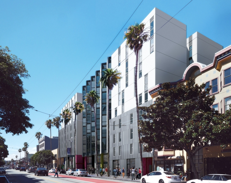 Where are those affordable housing buildings planned for the Mission?