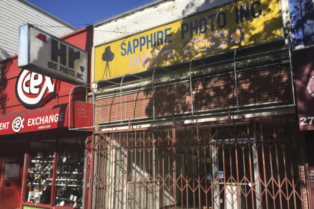 The shutter Sapphire Photo at 2761 Mission St., the location of the new Tea Art cafe.