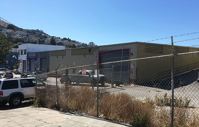 The site of the planned affordable senior housing at 1296 Shotwell Street. Photo by Sonner Kehrt.