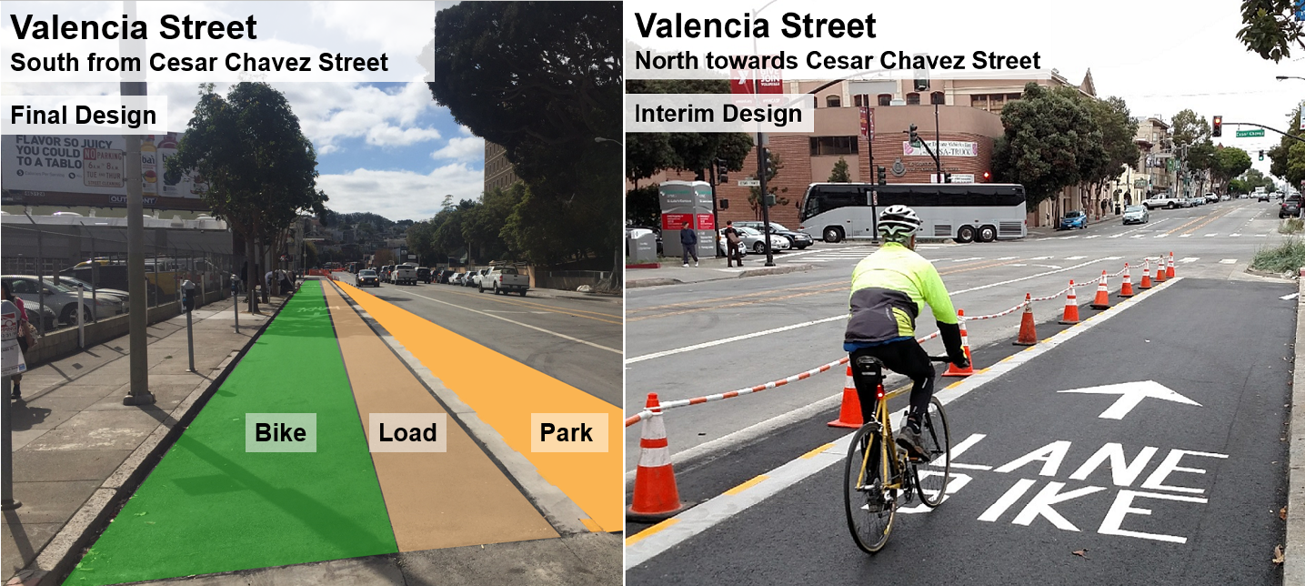 One-Block Protected Bike Lane Coming to Valencia