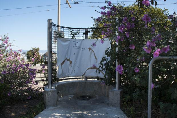 The infamous pissoir. Photo by Lola M. Chavez