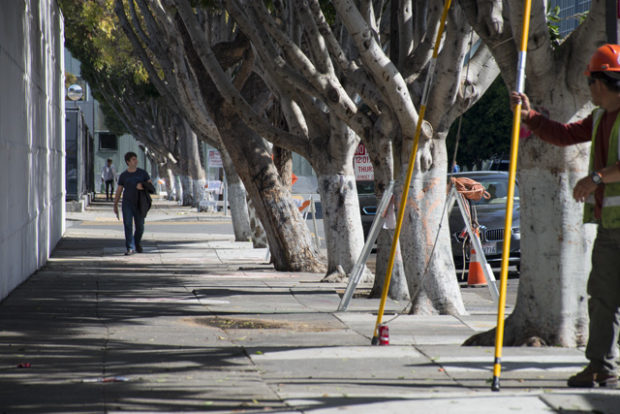 The block of 19th Street between Folsom and Harrison streets, cleared of its encampment. Photo by Lola M. Chavez