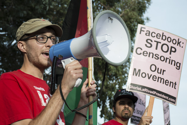 Protesters at Zuckerberg House Allege Censorship