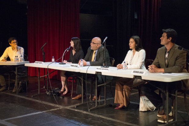 The candidates at the debate on Thursday, October 13. Photo by Lola M. Chavez