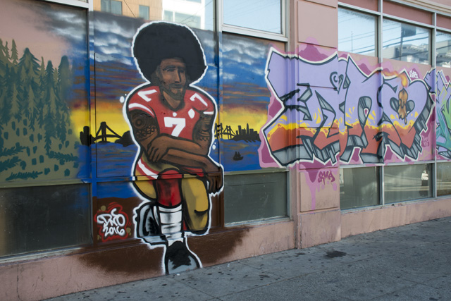 Kneeling Kaepernick Mural Painted in Mission District