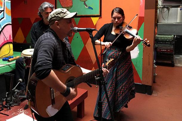 Los Peregrinos Cosmicos play at Bissap Baobab