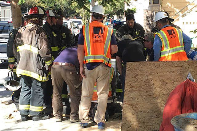 Gas Line Break Briefly Stops Work on Folsom