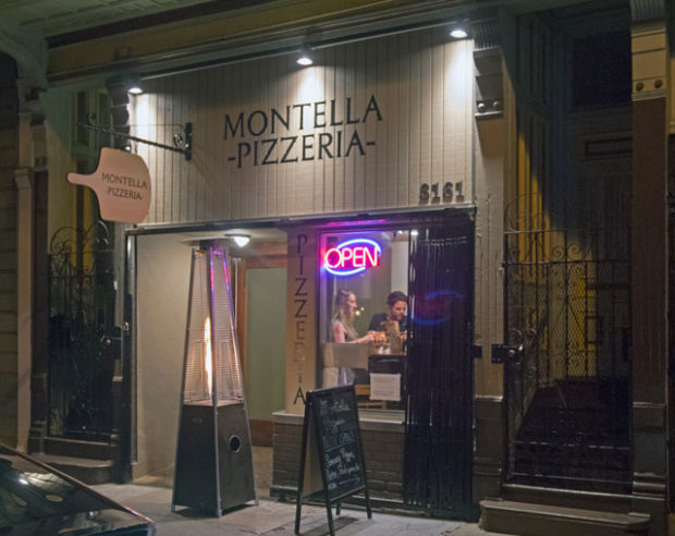 The exterior of Montella Pizzeria is as warm as the service inside.