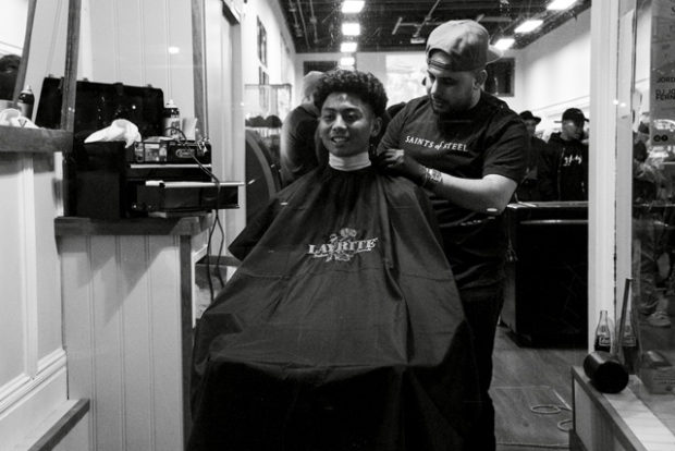 SF Barber Shop. Photo by Lola M. Chavez