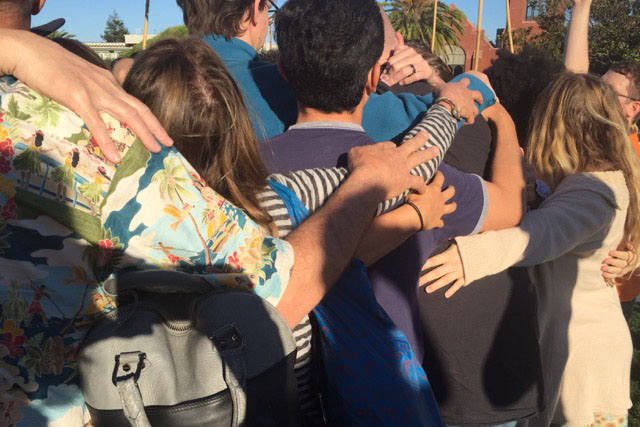 The Dolores Park Group Hug in SF's Mission District