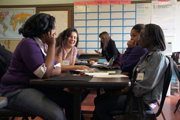 File photo: Students participate in a workshop at Mission High