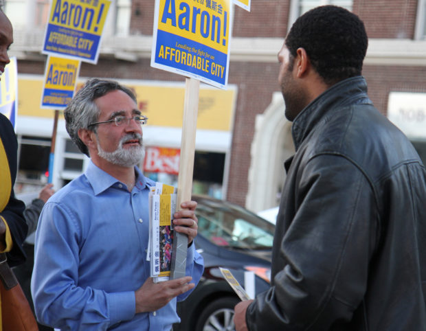 """Aaron Peskin in a still from """"Company Town"""" by Alan Snitow and Deborah Kaufman."""