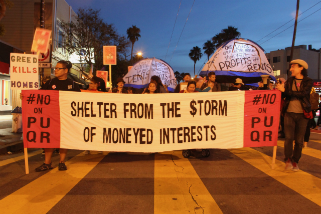Mission Street Blocked as Protesters March Against Housing Props