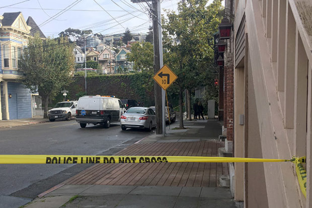 The shooting at 25th and Vermont streets on Wednesday, November 30, 2016. Photo by Joe Rivano Barros.