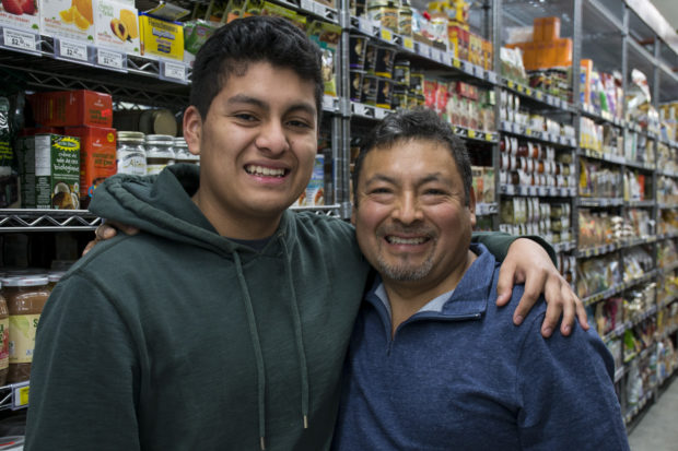 Steven and his father, Pedro. Photo by Lola M. Chavez