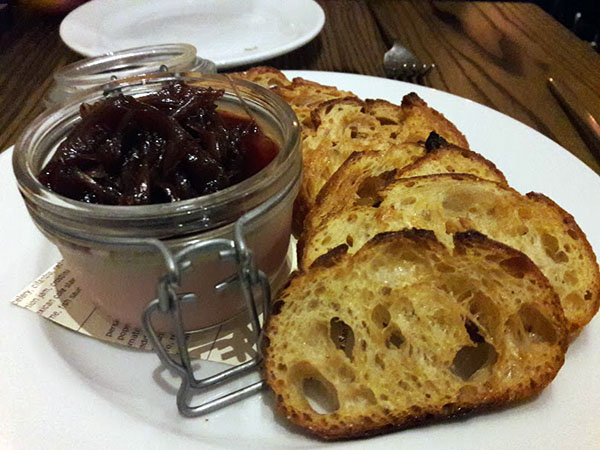 Chicken liver mousse.