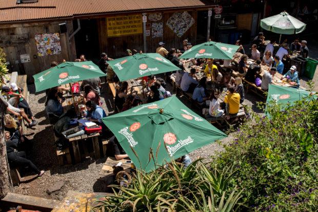 Zeitgeist's sunny patio. Photo courtesy of Zeitgeist.