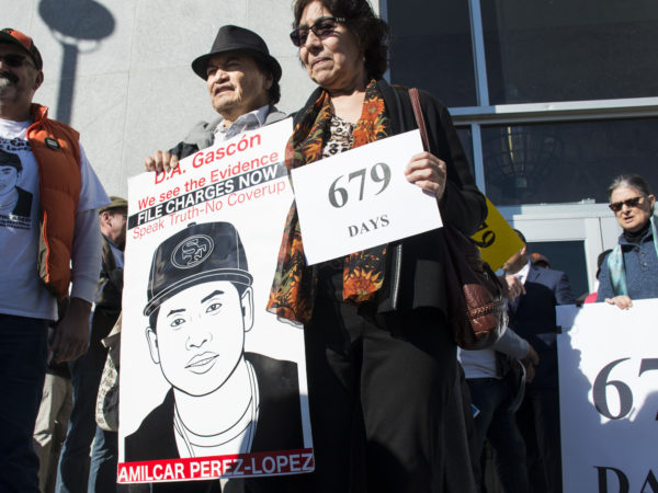 Parents of Alex Nieto, who was also shot and killed by police. Photo by Lola M. Chavez