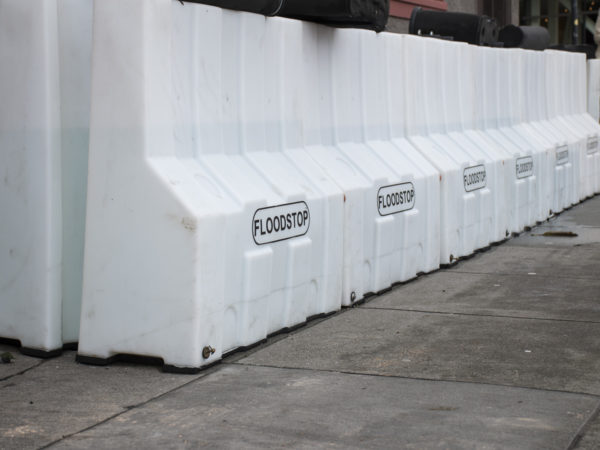 Flood Barriers. Photo by Lola M. Chavez