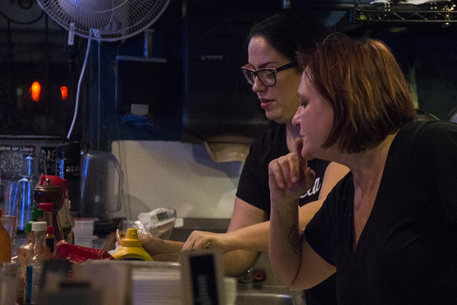 Making food at La Cubana and Elote. Photo by Lola M. Chavez