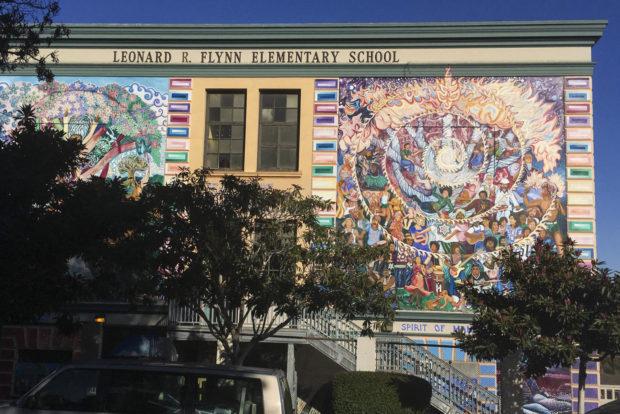 Flynn Elementary School. Photo by Lola M. Chavez