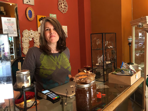 Laura James, the owner of Ruby on 20th Street,