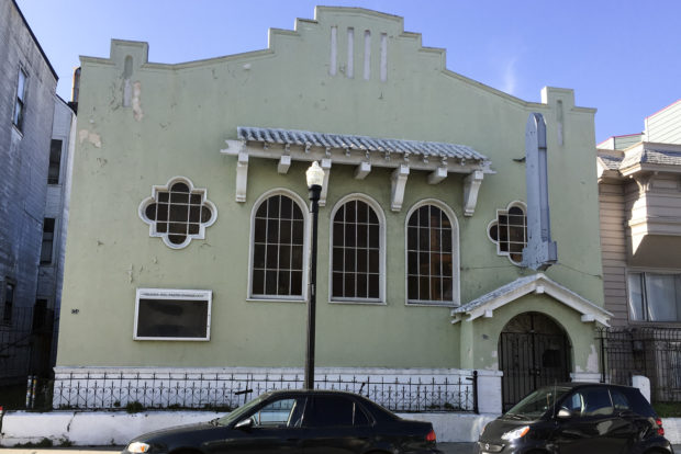 The church at 856 Capp Street. Photo by Lola M. Chavez