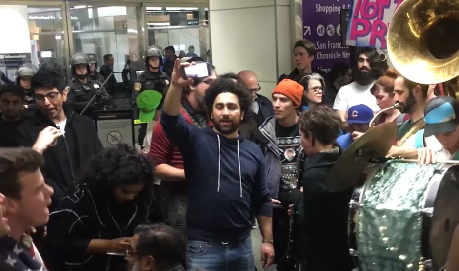 VIDEO: Immigration Protests at SFO