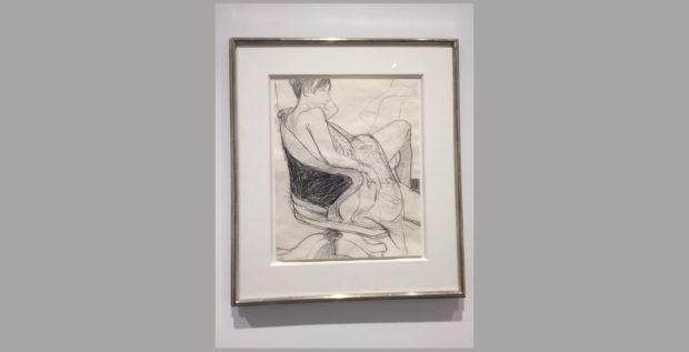 Richard Diebenkorn, Untitled, 1968; 17 × 14 inches.  Photo by Lydia Chávez