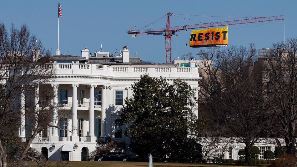A Missionite Helps Hoist 75-Foot Resist Banner in DC