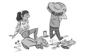 Illustration by Lesley Vamos