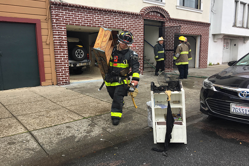 Fire Strikes Harrison Street Apartment Building, Displaces One Tenant