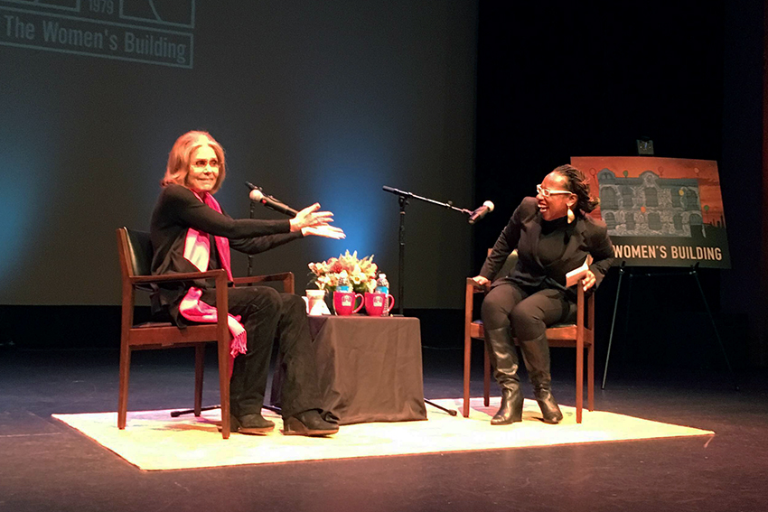 Feminist Icon Gloria Steinem Speaks to the Mission