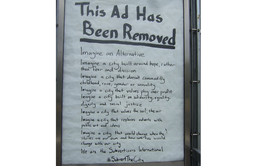 Subversion at the bus stops!