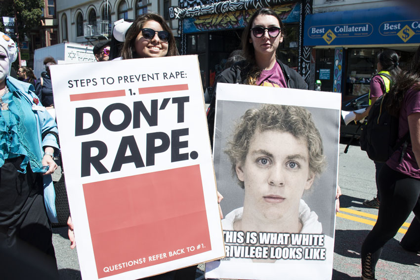 Hundreds of SF protesters march against rape