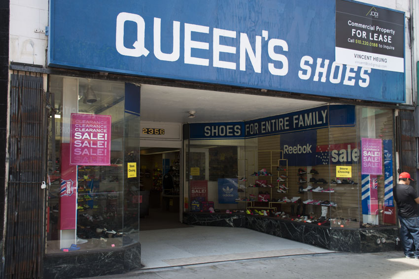 Queen's Shoes on Mission Street to close up shop