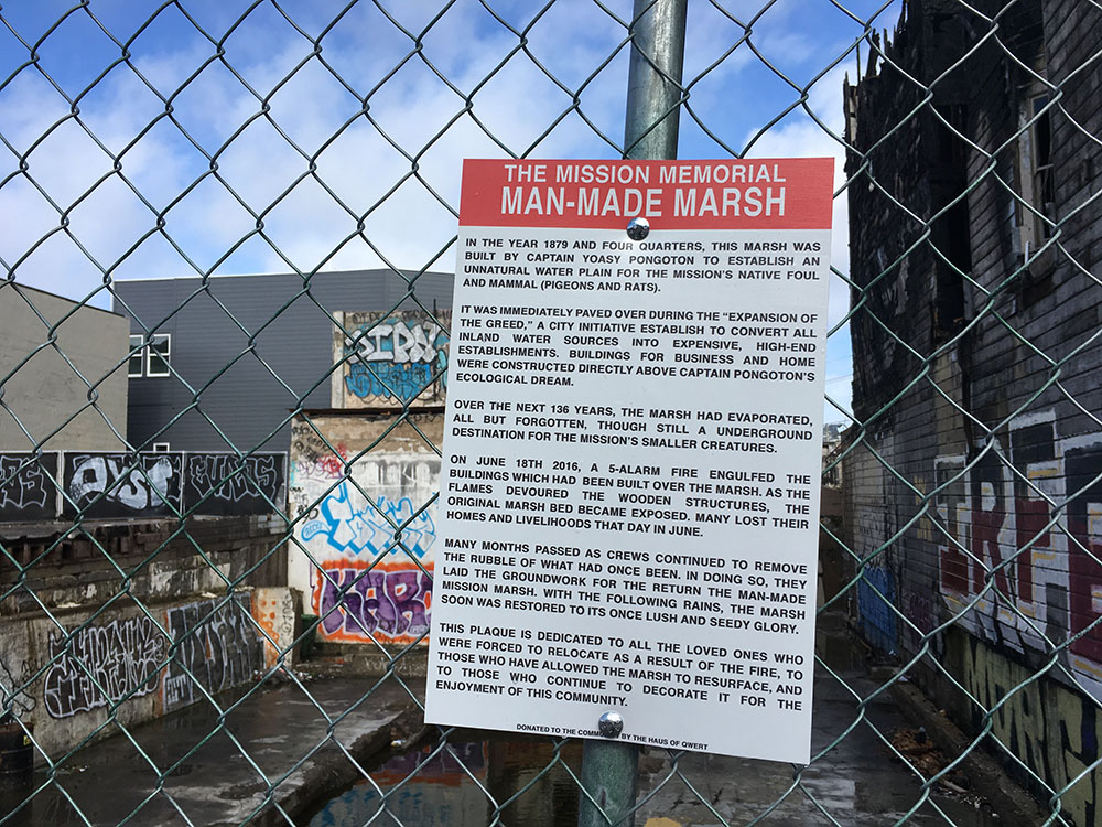Artist marks burned SF Mission sites with poetic tribute