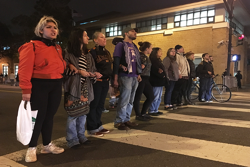 Demonstrators protest DA's decision to exonerate officers in fatal police shooting