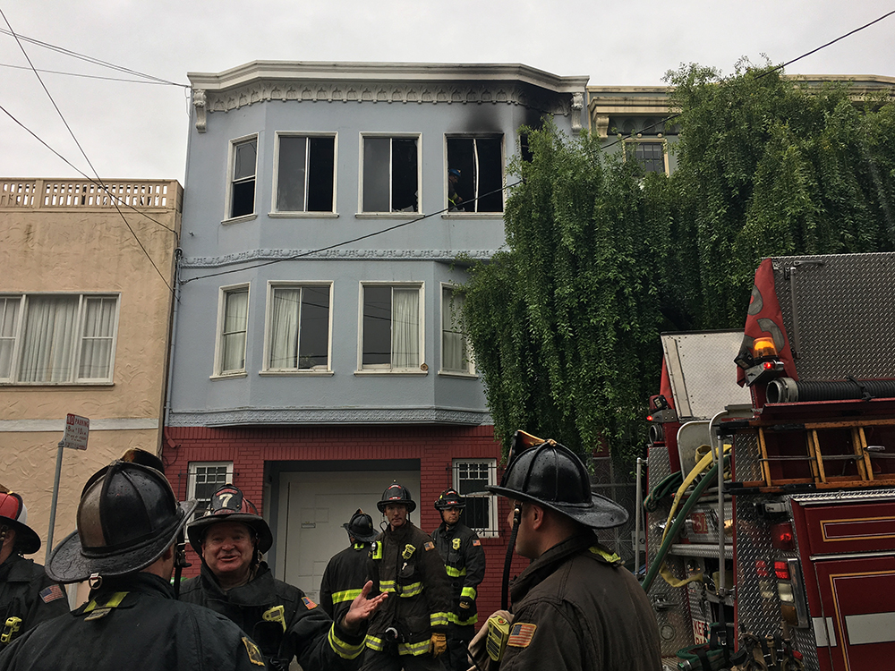 Noe Valley fire sends disabled senior to hospital, displaces four