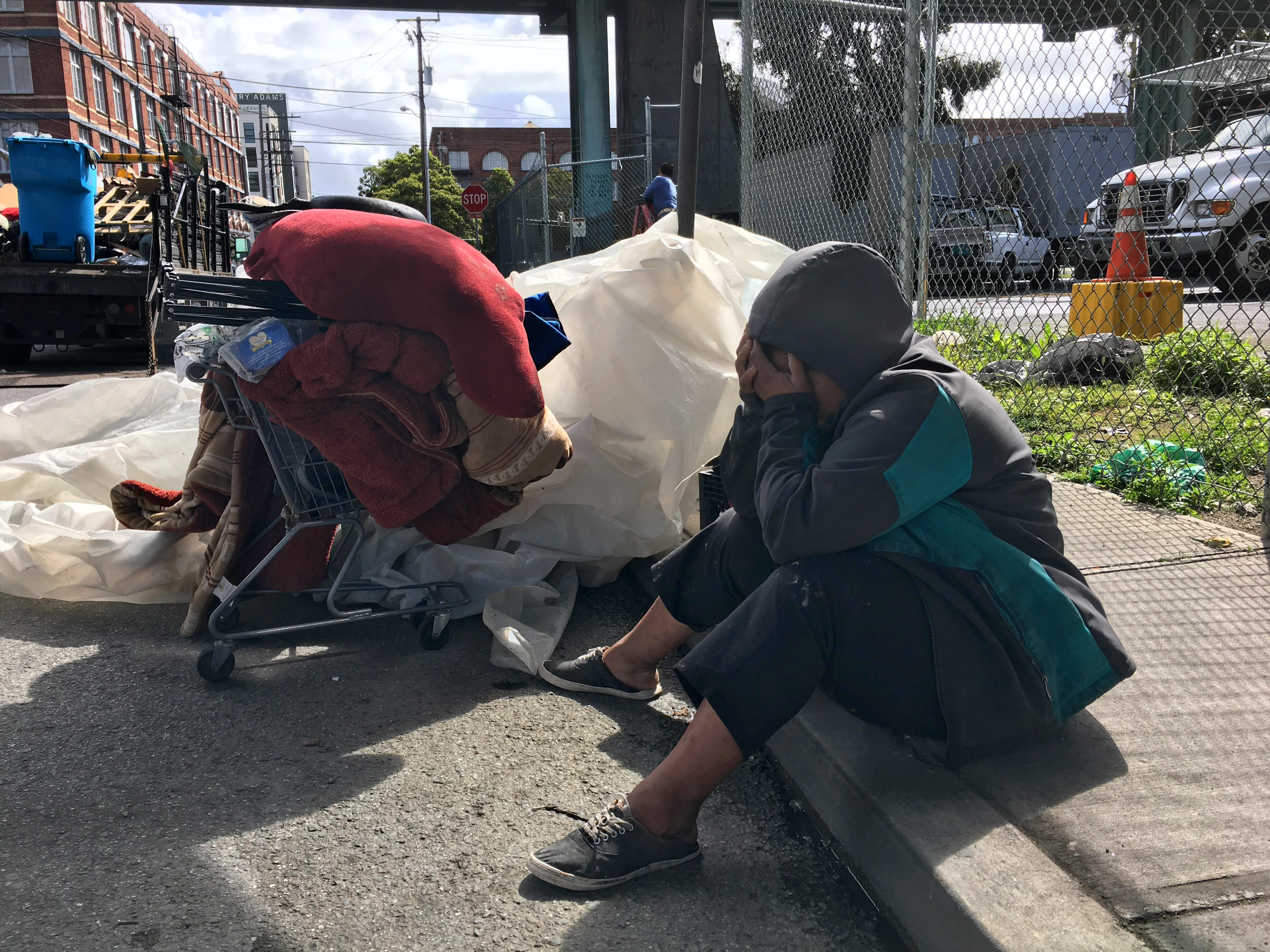 City confounds some of its workers as it sweeps an encampment early