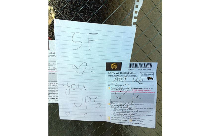 Snap: UPS love