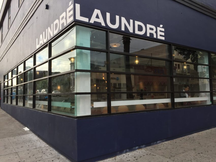 Laundré's cafe shutters. But you can still 'wash your fashion.'