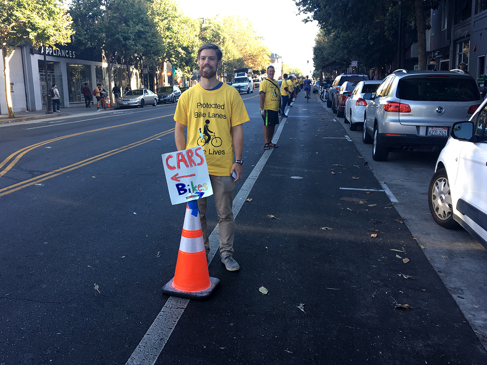 Bike safety advocates, plus D8 Sup, hit the street for protected bike lanes