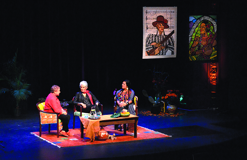Joan Baez, Olga Talamante and Lila Downs talk Trump and resistance
