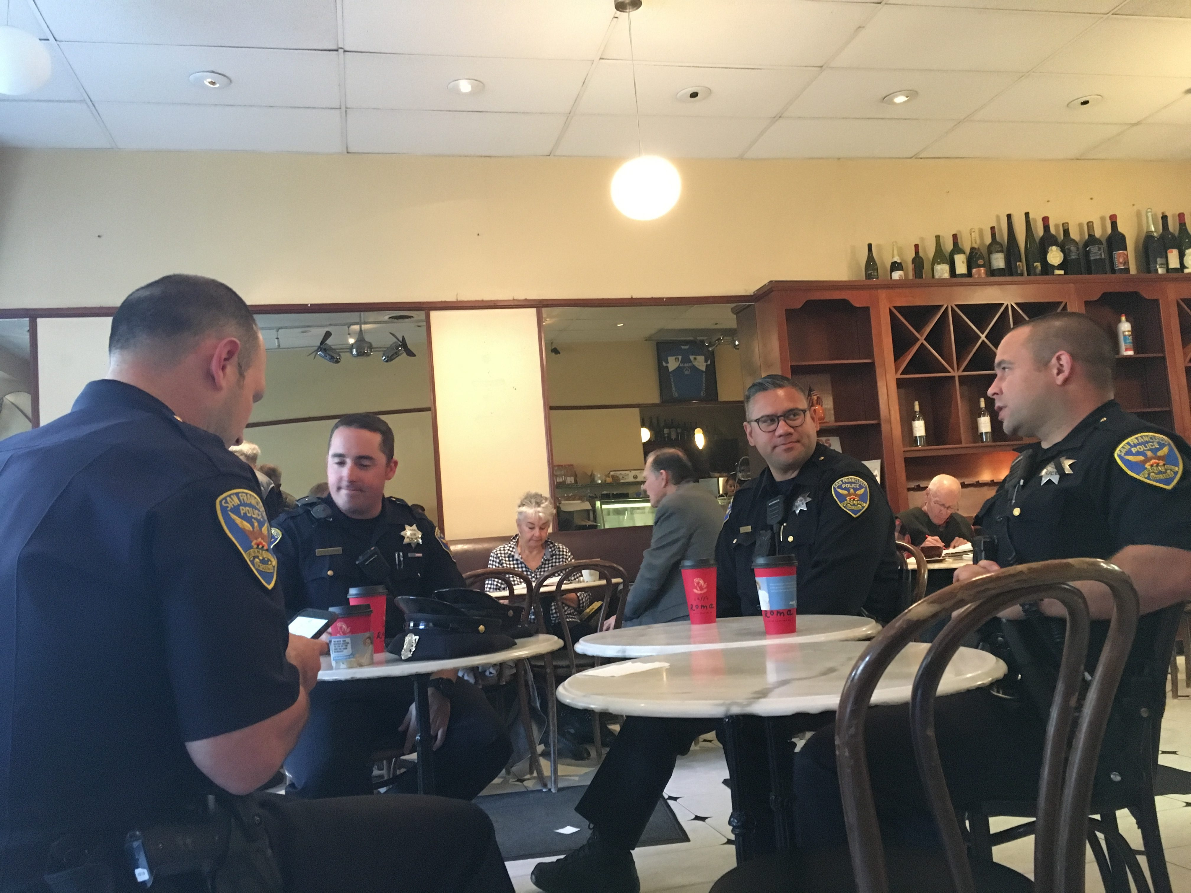 SF Coffee with a Cop yields casual chatter, questions about homicides